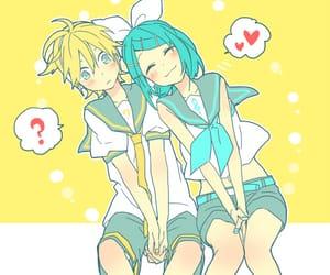 boy, couple, and len x miku image