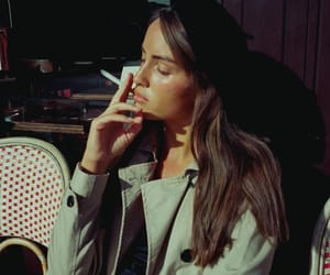 cafe, cigarette, and coffee image