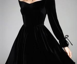 black, dress, and fashion image