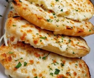 bread, food, and cheese image