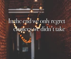 chance, end, and regret image
