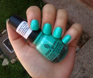 mint, china glaze, and nail polish image