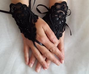 black, gothic, and mittens image