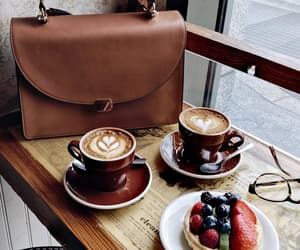 coffee, dessert, and fashion image