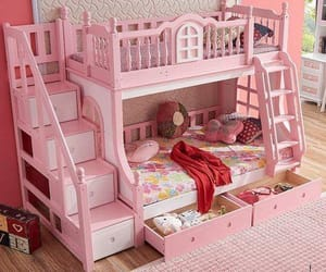 bedroom, beds, and kids image