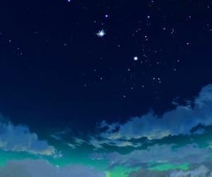 howl's moving castle, sky, and stars image