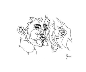 drawing, kiss, and flowsofly image