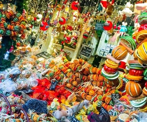 baubles, christmas market, and christmas image