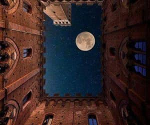 moon, italy, and photography image