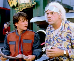 Back to the Future, marty mcfly, and christopher lloyd image
