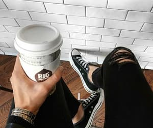 coffee, fashion, and outfit image