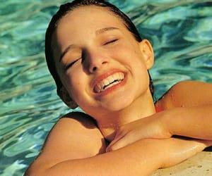 natalie portman, pool, and summer image