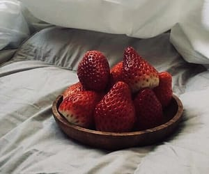 strawberry, food, and aesthetic image
