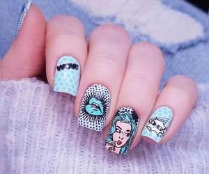 nail, belleza, and cartoon image