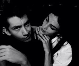 alex turner, alexa chung, and black and white image