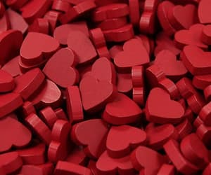 red, hearts, and heart image