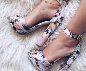 floral, girly, and heels image