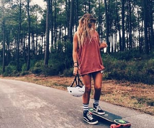 girl, board, and lifestyle image