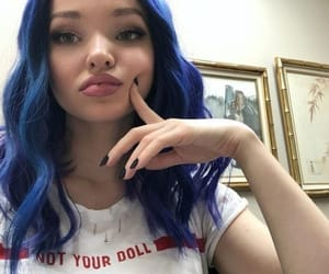 dove cameron, hair, and purple image