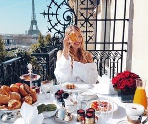 breakfast, desayuno, and torre eiffel image