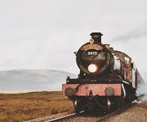 harry potter, hogwarts express, and train image