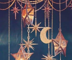 stars, moon, and light image
