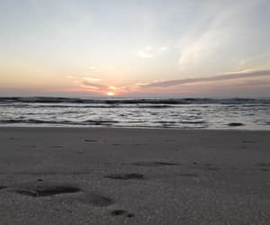 beach, moments, and sunrise image