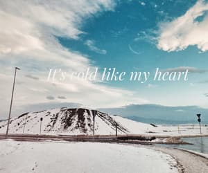 cold, sky, and heart image