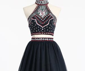 black prom dresses, a-line prom dresses, and backless prom dresses image