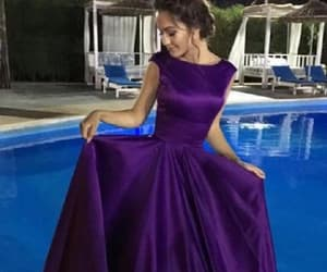 long prom dress, simple prom dress, and backless prom dress image