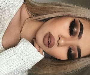 blonde, eyebrows, and inspiration image