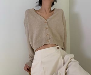 aesthetic, beige, and cardigan image