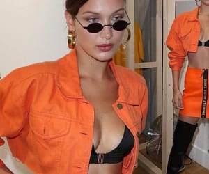 fashion, orange, and bella hadid image