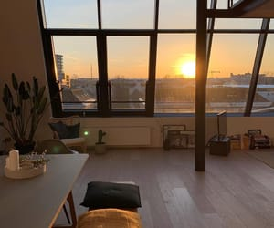 apartment, decor, and sunrise image