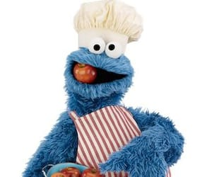 cookie monster, tomatoes, and sesame street image