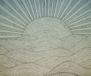 beach, beautiful, and lines image