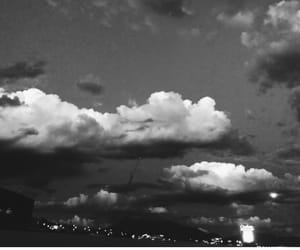 black and white, clouds, and inspo image