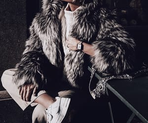 coat, fashion, and fur image