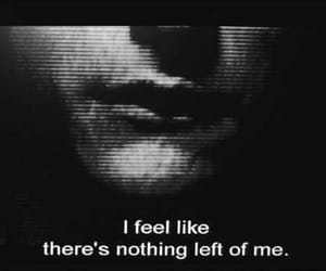 depression, black and white, and nothing image
