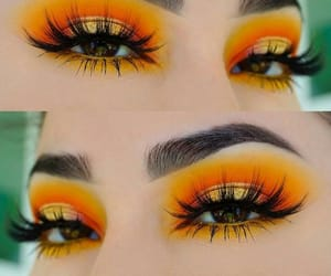 orange, makeup, and beauty image