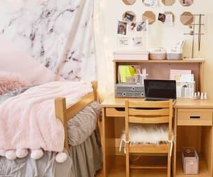 bedroom, dorm, and goals image