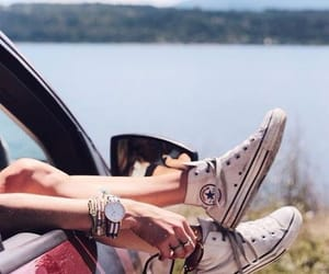 car, converse, and trip image