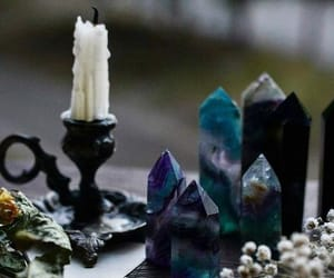 aesthetic, crystals, and candles image