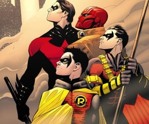 DC, dick grayson, and red hood image