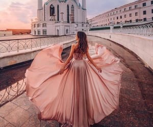 dress, city, and dreamy image