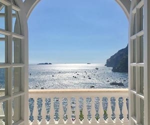 a room with a view, picture, and sea image
