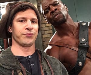 andy samberg, brooklyn 99, and terry crews image