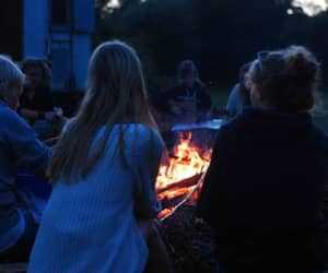 friends, fire, and grunge image