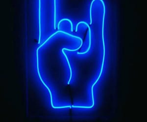 blue, glow, and hand image