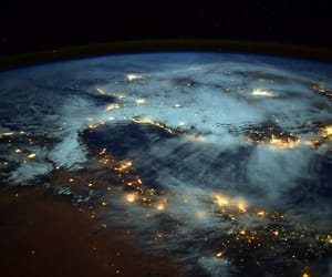 earth, light, and space image